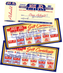 JAX Jr. Gift Certificates